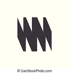 グランジ, 抽象的, ベクトル, デザイン, 手紙, ロゴ, wm