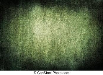 グランジ, 抽象的, 全範囲, 緑, バックグラウンド。