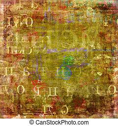 グランジ, 抽象的, 引き裂かれた, 古い, 背景, ポスター