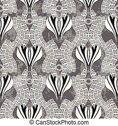 グランジ, 抽象的, pattern., seamless, meanders, ギリシャ語, キー