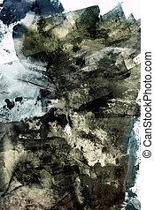 グランジ, 抽象的, textured, コラージュ