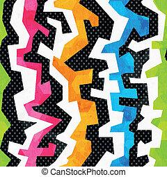 グランジ, 明るい, 落書き, seamless, パターン