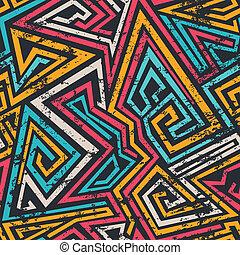 グランジ, 有色人種, パターン, ライン, らせん状に動きなさい, seamless, 効果