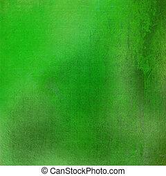 グランジ, 汚された, 緑の背景, textured, 新たに