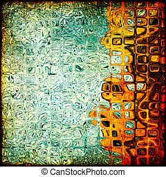 グランジ, 立方体, 形, パターン, ∥ように∥, 抽象的, バックグラウンド。, ディジタル方式で生成された, image.