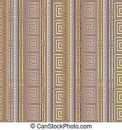 グランジ, 縦, パターン, seamless, ギリシャ語, stripes., ボーダー