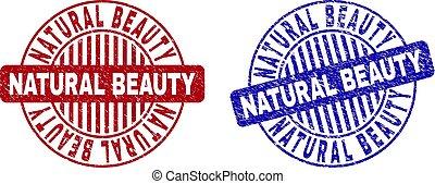 グランジ, 美しさ, 切手, シール, textured, 自然, ラウンド