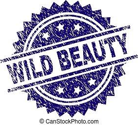グランジ, 美しさ, 切手, textured, シール, 野生