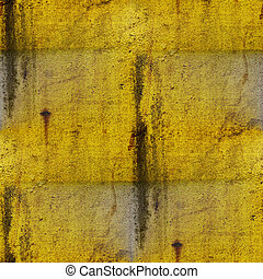 グランジ, 背景 パターン, 金属, seamless, 黄色, 滴り, ペンキ, 手ざわり, 鉄, grungy, 古い, 年を取った, さび, 汚い
