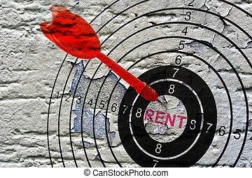 グランジ, 賃貸料, 背景, ターゲット