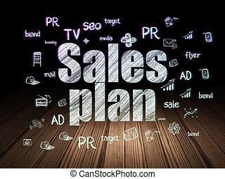 グランジ, 部屋, マーケティング, 販売, 暗い, 計画, concept: