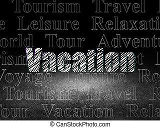 グランジ, 部屋, 旅行, 休暇, 暗い, concept: