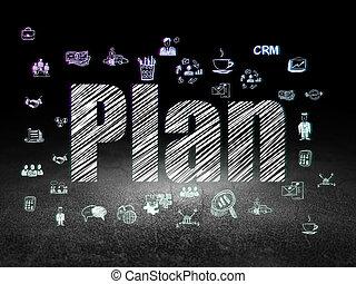 グランジ, 部屋, 暗い, 計画, concept:, 金融