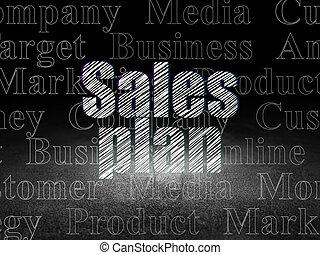 グランジ, 部屋, 販売, 暗い, 計画, concept:, 広告