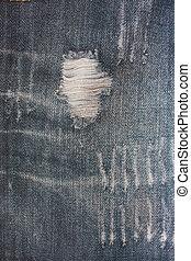 グランジ, 青い羽布, textured, しまのある背景, 使われた, デニムジーンズ