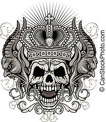 グランジ, 頭骨, 紋章