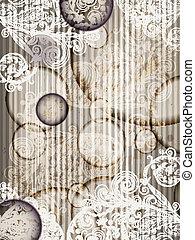 グランジ, 10, パターン, 抽象的, eps, ストライプ, ベクトル, はねる, テンプレート, 招待, 花