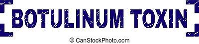 グランジ, botulinum, 切手, コーナー, 中, シール, 毒素, textured