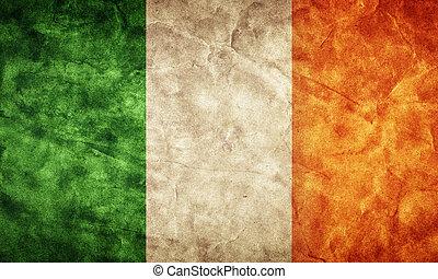 グランジ, flag., 型, 項目, 旗, レトロ, アイルランド, コレクション, 私