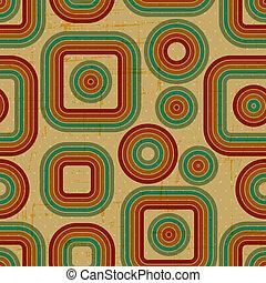 グランジ, pattern., レトロ, seamless