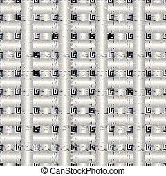 グランジ, pattern., seamless, ギリシャ語, ベクトル, 点検, 3d