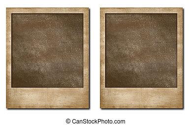グランジ, polaroid, フレーム, 瞬間, 写真