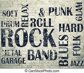 グランジ, roomgrunge, 岩, ポスター