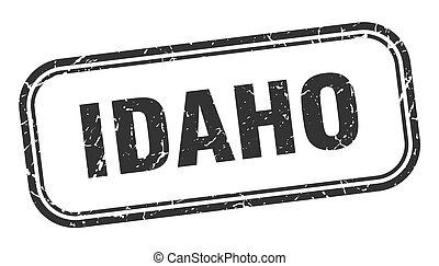グランジ, stamp., 印, 隔離された, アイダホの黒