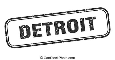 グランジ, stamp., 印, 隔離された, 黒, デトロイト