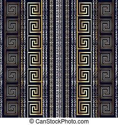 グランジ, striped., 現代, pattern., seamless, ギリシャ語, 3d