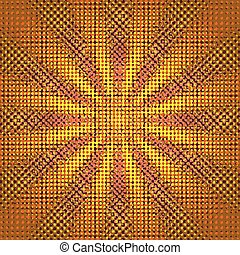 グランジ, sunburst, ベクトル, イメージ