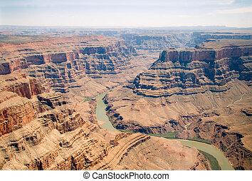 グランドキャニオン, 空気の写真, アリゾナ, アメリカ