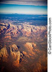 グランドキャニオン, 航空写真, ビュー。