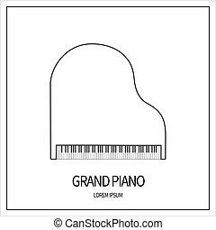 グランドピアノ, アイコン
