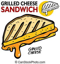 グリルされたチーズサンドウィッチ