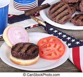 グリルされた, ハンバーガー