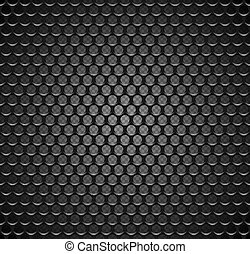 グリル, 網, パターン, 金属, seamless, texture., バックグラウンド。, ベクトル, スピーカー, 鉄, 格子, fill., 無限, ページ, 透明, 黒
