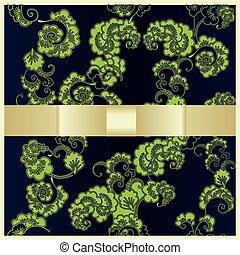 グリーティングカード, ∥で∥, 日本語, 装飾, 緑