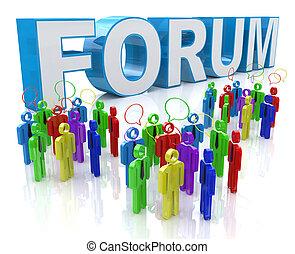 グループの 議論, フォーラム