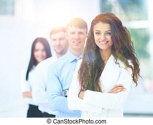 グループ肖像画, の, a, 専門家, ビジネス チーム