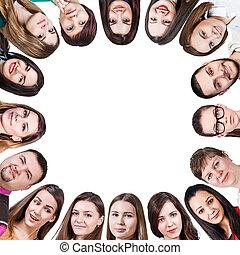 グループ, の, 別, 人々, 形態, a, フレーム