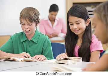 グループ, の, 小学校, 生徒
