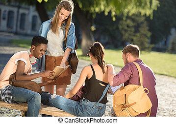 グループ, の, 幸せ, 生徒