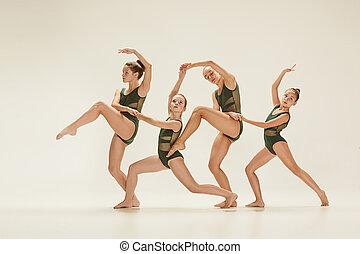 ∥, グループ, の, 現代, バレエ・ダンサー