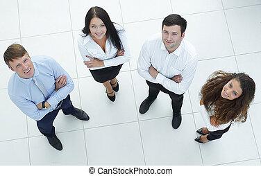 グループ, の, 若い, ビジネス 人々