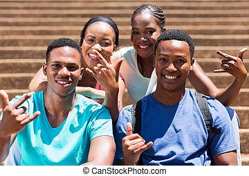 グループ, の, african american, 団体学生