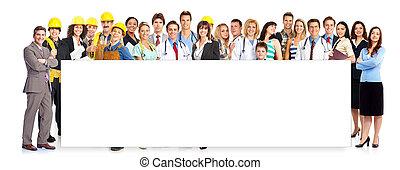グループ, の, workers.