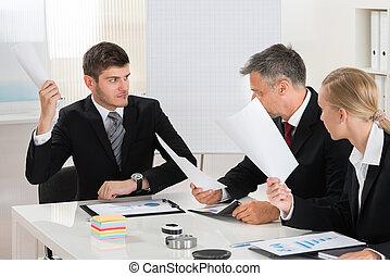 グループ, オフィス, 仕事, businesspeople
