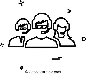 グループ, サポート, ベクトル, デザイン, アイコン