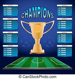 グループ, チャンピオン, テンプレート, チーム